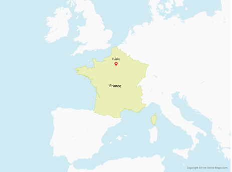 Map showing France