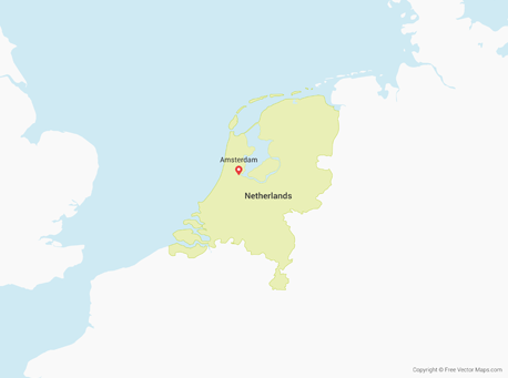 Map showing Netherlands